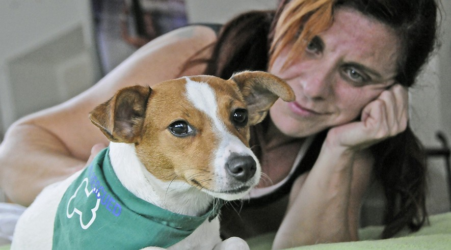 Marcela Alvarez lives in a high-rise condominium on Miami Beach, with her Jack Russell terrier, Pelusa, who is considered an emotional support animal.