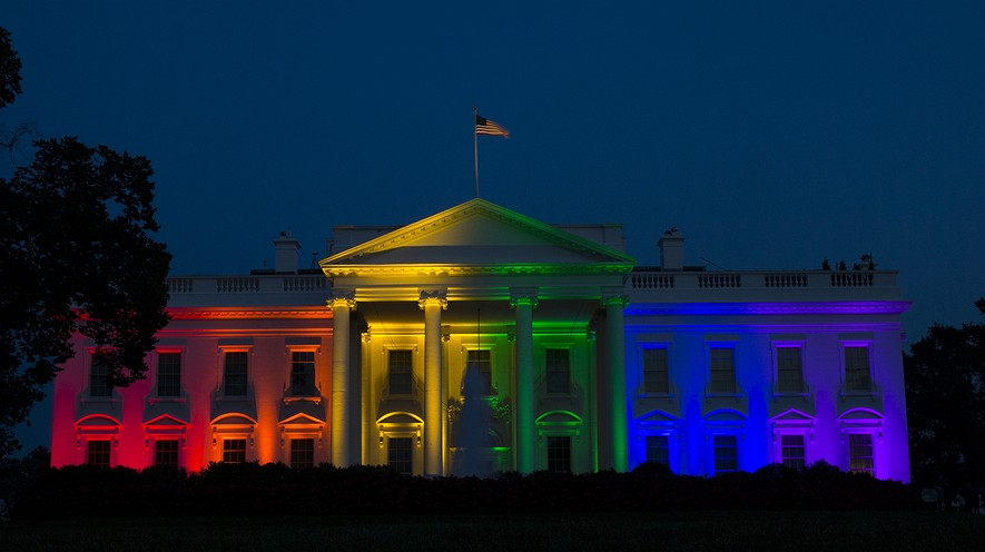 same sex marriage ruling creates new constitutional liberty the white house is lit up in rainbow colors in commemoration of the supreme court s ruling