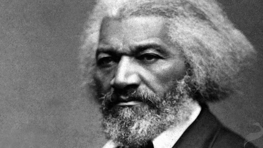 A portrait of Frederick Douglass.