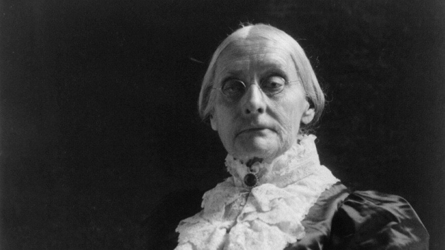 A portrait of American civil rights leader Susan B. Anthony (1820-1906).