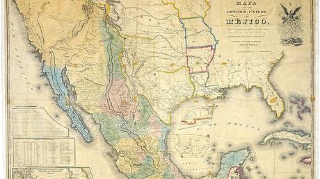 Mapa De Los Estados Unidos De Mejico By John Distrunell The 1847 Map