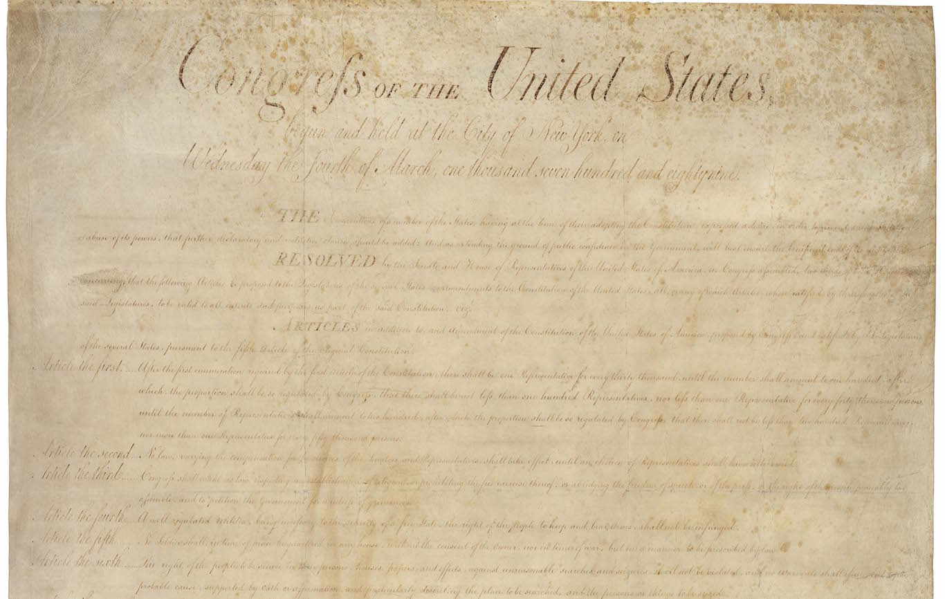 The second amendment issues - Primary Sources The Bill Of Rights