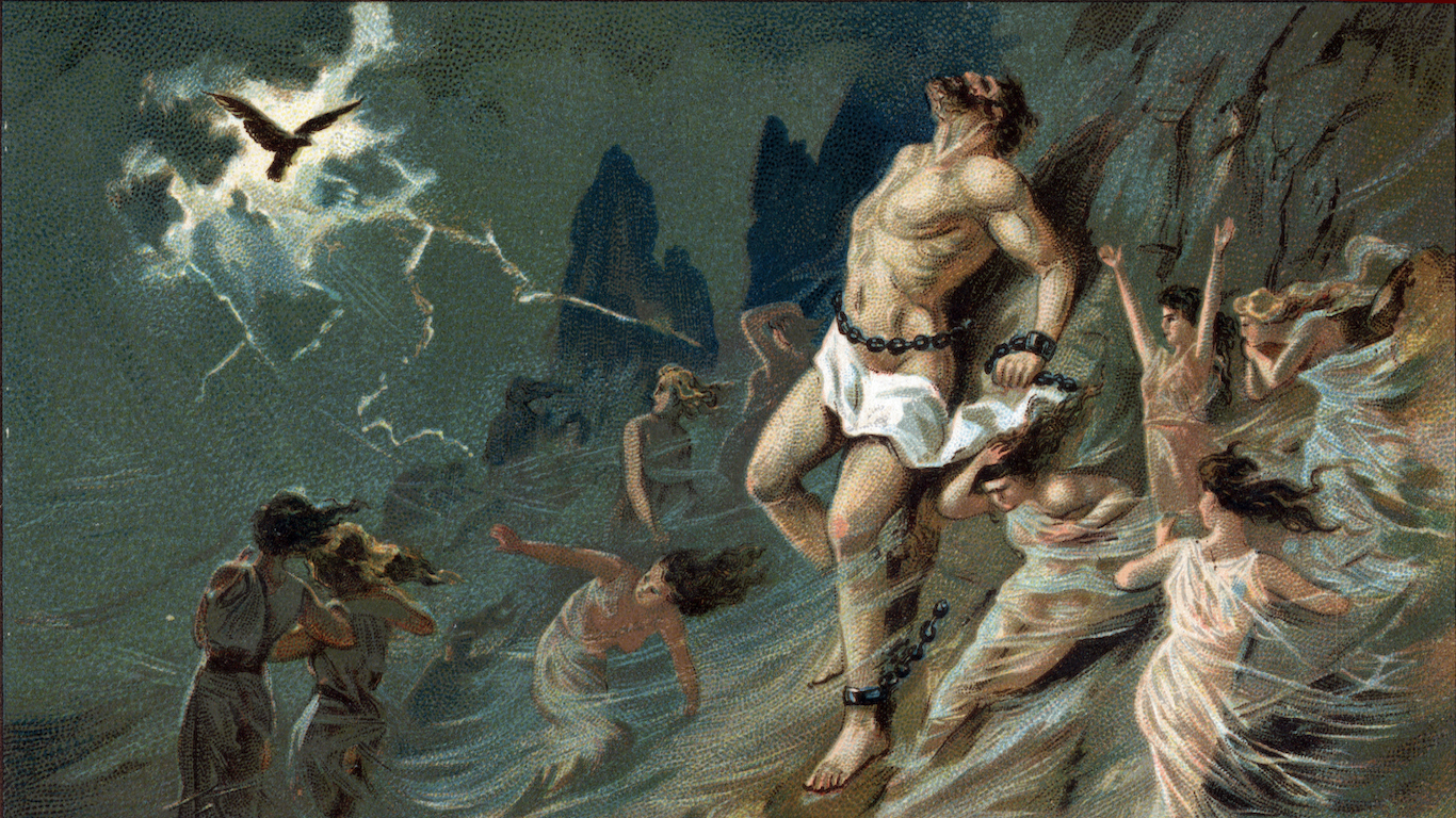 the myth of prometheus a story about choices Prometheus was the ancient greek titan-god of forethought and crafty  put it  down between them, offering jove [zeus] the choice of either part for himself   was the second of a trilogy of plays describing the story of the titan prometheus.