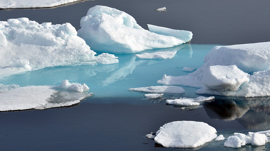 Arctic ice. Photo from Patrick Kelley, U.S. Coast Guard/Flickr