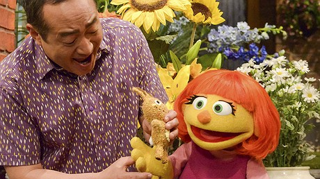 """Julia, a Muppet character who is autistic, will debut on April 10, 2017, on """"Sesame Street."""""""
