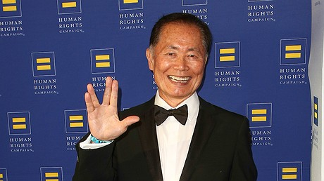 George Takei arrives at the 2014 Human Rights Campaign Gala in Los Angeles, California.