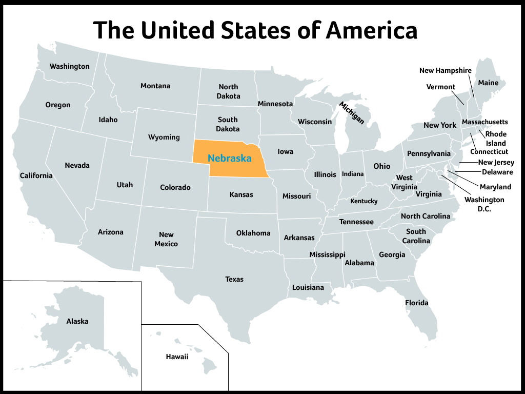 Newsela Nebraska The Cornhusker State - Nebraska on the us map