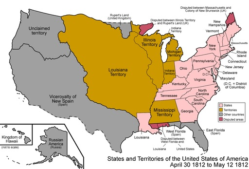 Newsela The Expanding American Republic And The War Of - Us westward expansion map