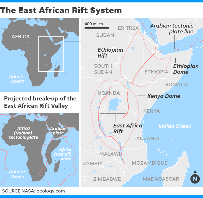 Newsela breaking up is hard to do africa may eventually split the crack is located in a region known as the east african rift gumiabroncs Gallery