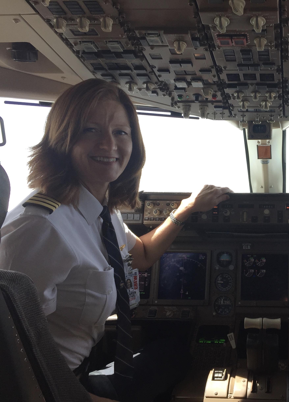 Captain Stahl In The Cockpit. Photo: Courtesy Of Karen Stahl.