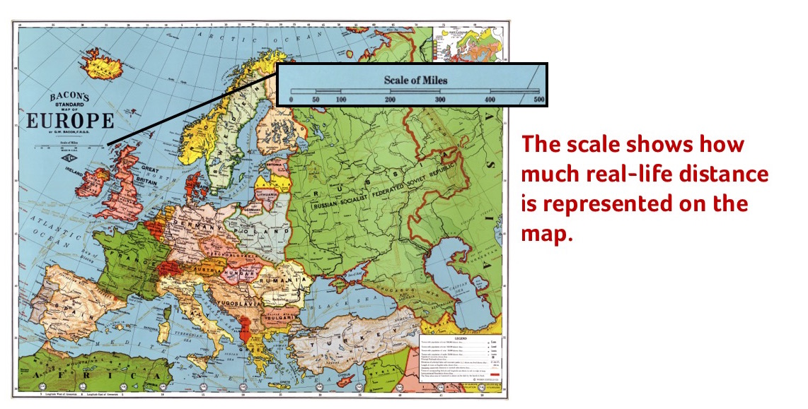 Newsela reading maps and globes a scale is a mathematical relationship between actual sizes and the sizes shown on a map if 1 centimeter on the map equals 10 actual kilometers gumiabroncs Image collections