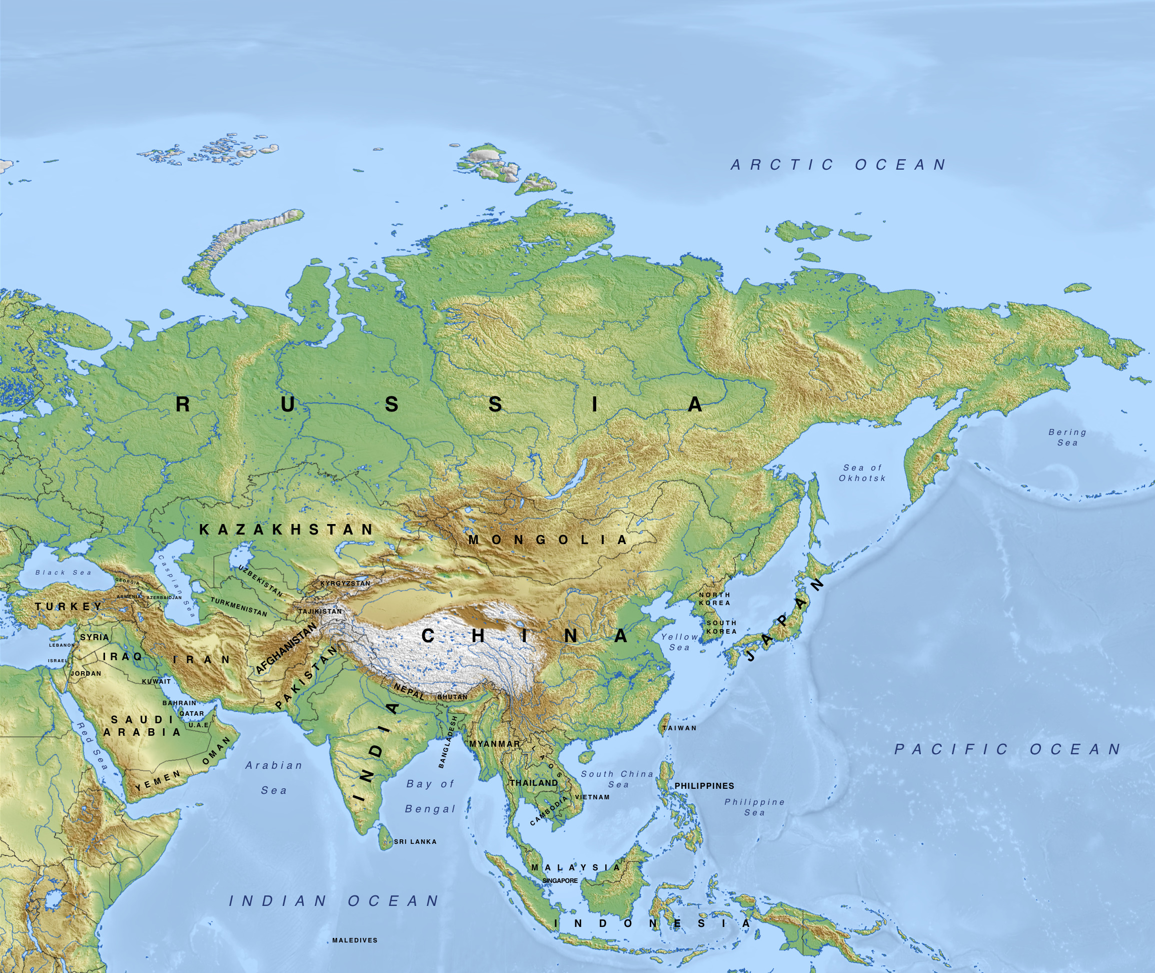 Newsela - Asia: Physical geography