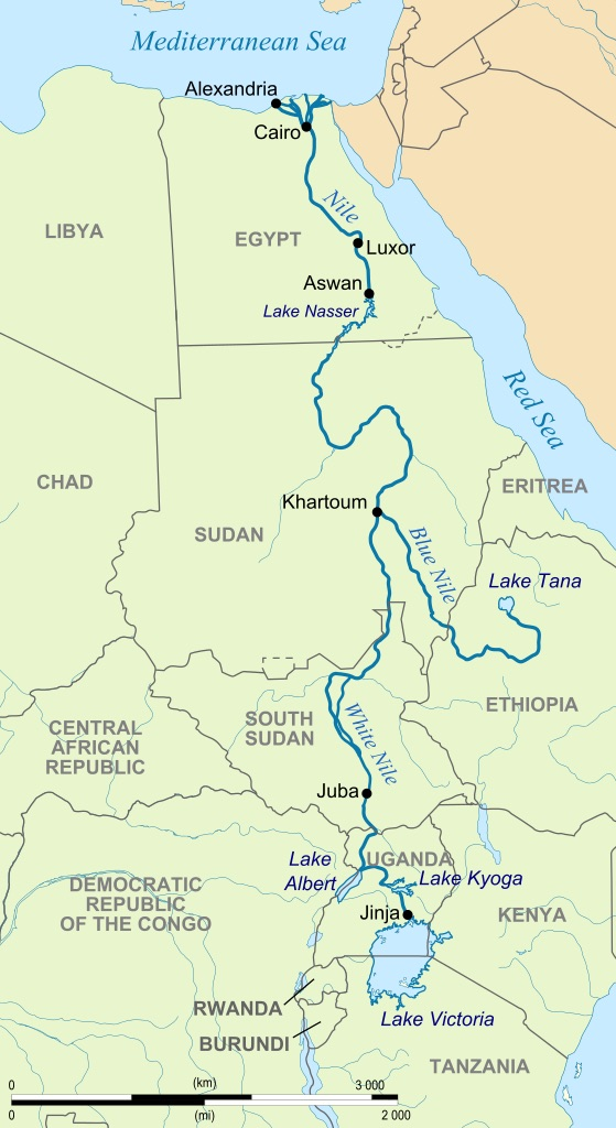 Newsela How The Nile River Led To Civilization In Ancient Egypt - Map of egypt's natural resources