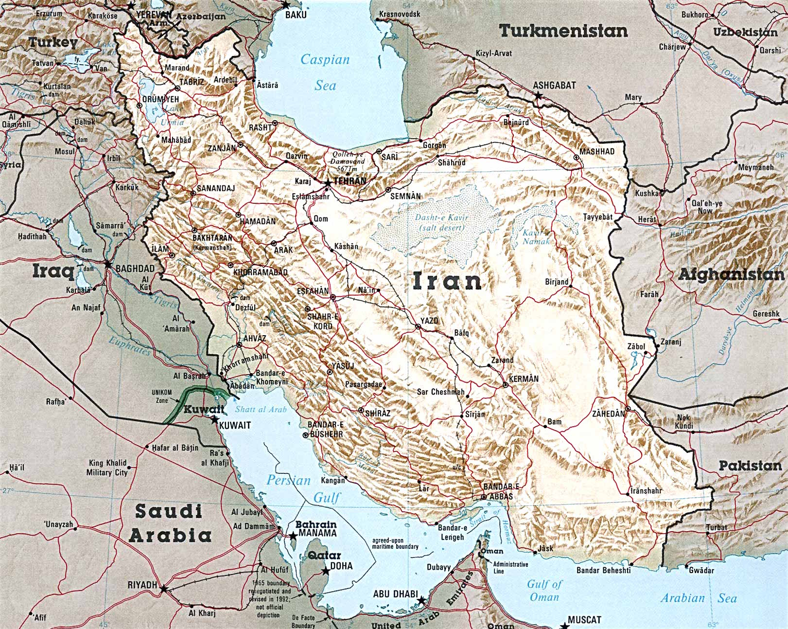 map of iran map from public domain click to enlarge